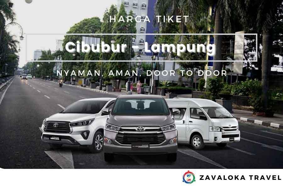 Harga Tiket travel Cibubur ke Lampung