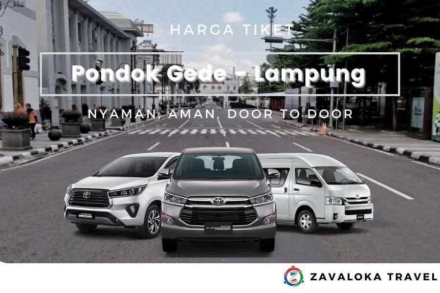Harga Tiket travel Pondok Gede ke Lampung