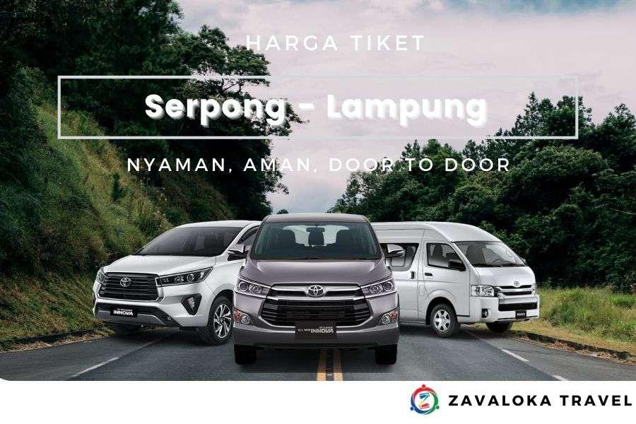 Harga Tiket travel Serpong ke Lampung