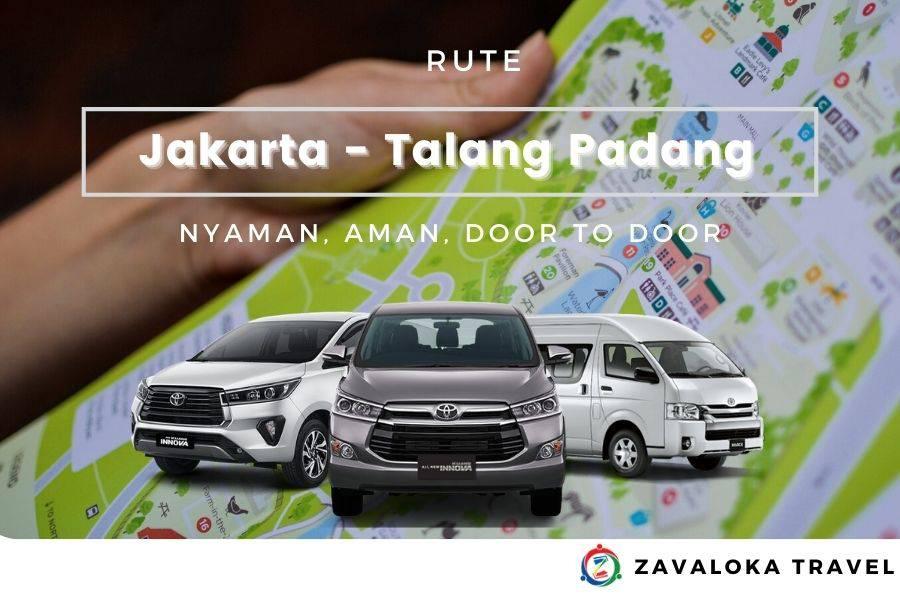 harga travel Jakarta Talang Padang